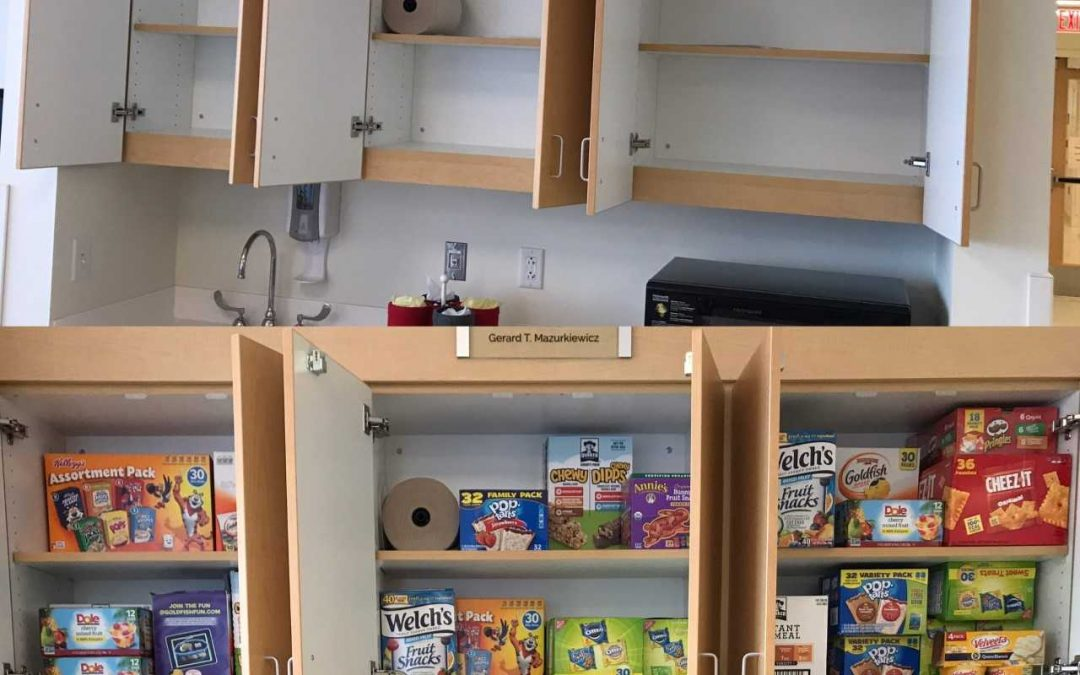 Thank YOU for helping us stock the cupboards at Oishei Children's Hospital!